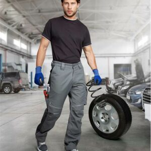 Kalhoty do pasu URBAN šedo-šedé